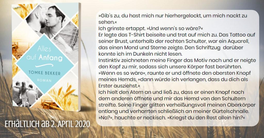 """Cover zu """"Alles auf Anfang"""" mit kurzem Textausschnitt als Illustration für das Gewinnspiel"""